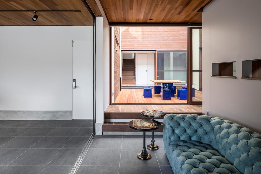 Modern Attached Garage Idea Dwellingdecor
