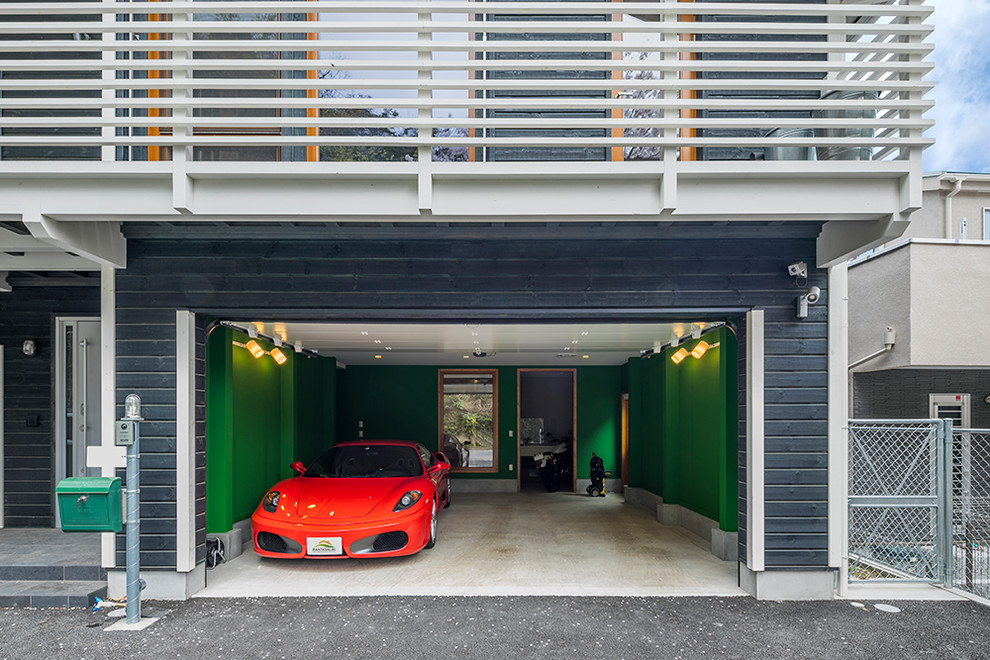 Scandinavian Two Car Garage Dwellingdecor