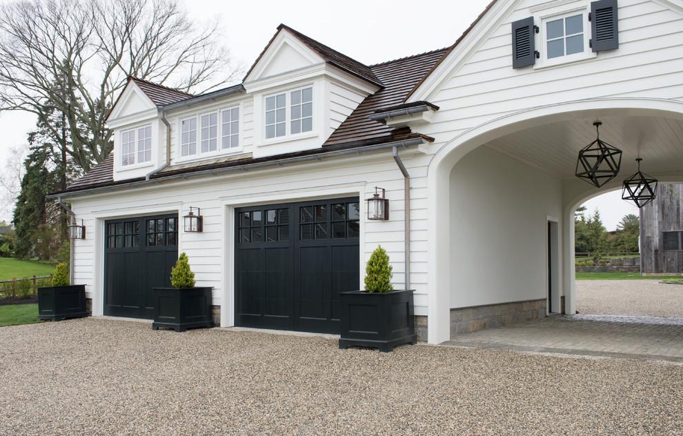 Traditional Detached Garage With Large Compound Dwellingdecor