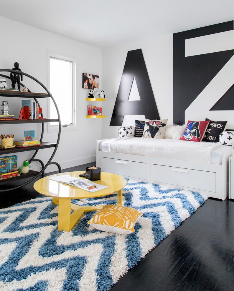 Trendy Modern Colonial Style Boys Bedroom dwellingdecor