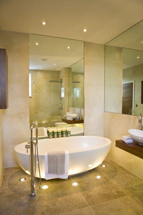 Beautiful Bathroom Floor Lighting Dwellingdecor