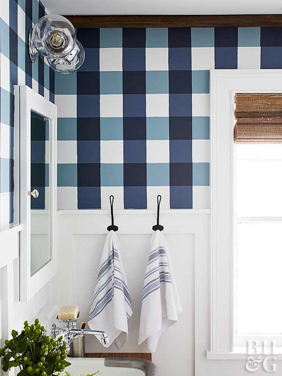Buffalo Check Pattern Bathroom remodeling ideas