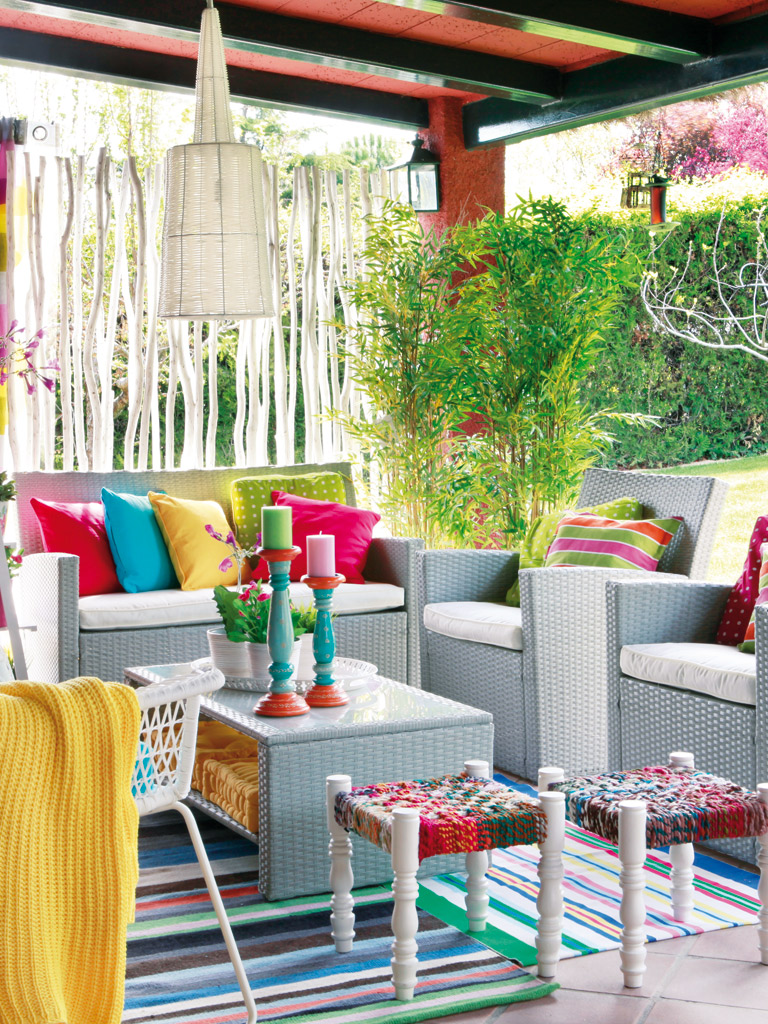 Colorful & Funky Patio Design Dwellingdecor
