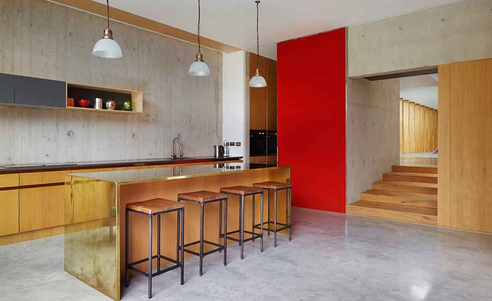 Contemporary Concrete Kitchen Dwellingdecor