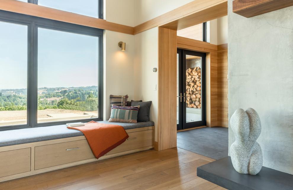 Contemporary Entryway Window Seats Dwellingdecor