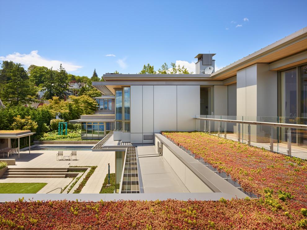 Contemporary Full Sun Rooftop Formal Garden Dwellingdecor