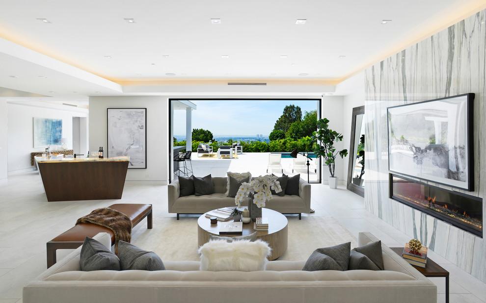 Contemporary House Dining Area dwelligdecor