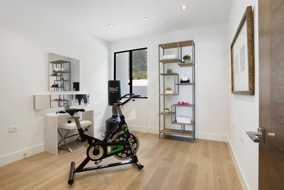 Contemporary House Home Gym dwelligdecor