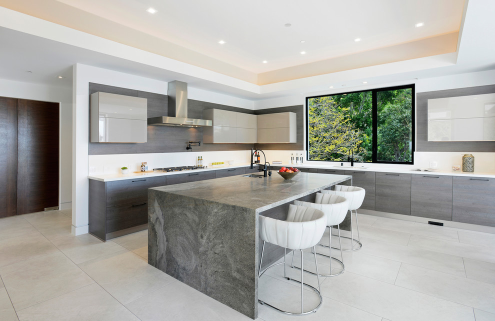 Contemporary House Kitchen nook dwelligdecor