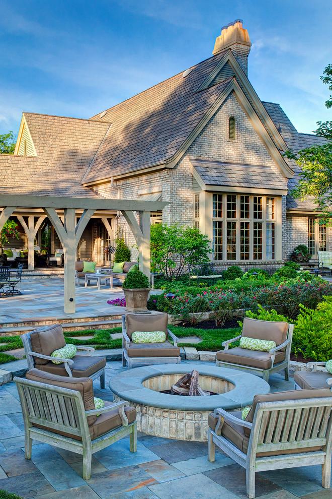 Frontyard Patio With Traditional Furniture Dwellingdecor