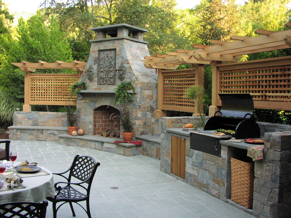 Huge Patio With Barbeque Dwellingdecor