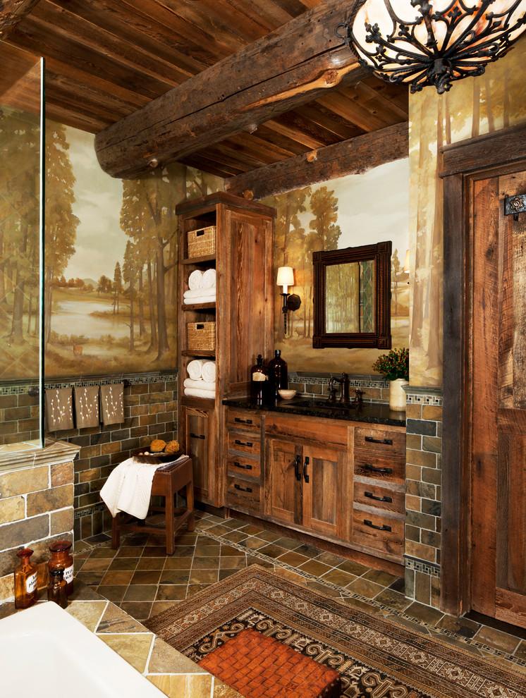Rustic Bathroom Lighting Ideas Dwellingdecor