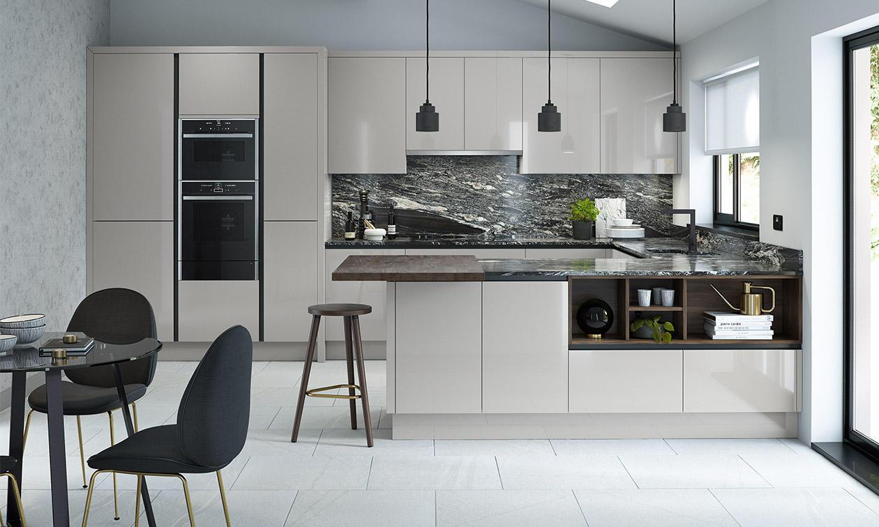 Silver Grey U Shaped Kitchen Dwellingdecor