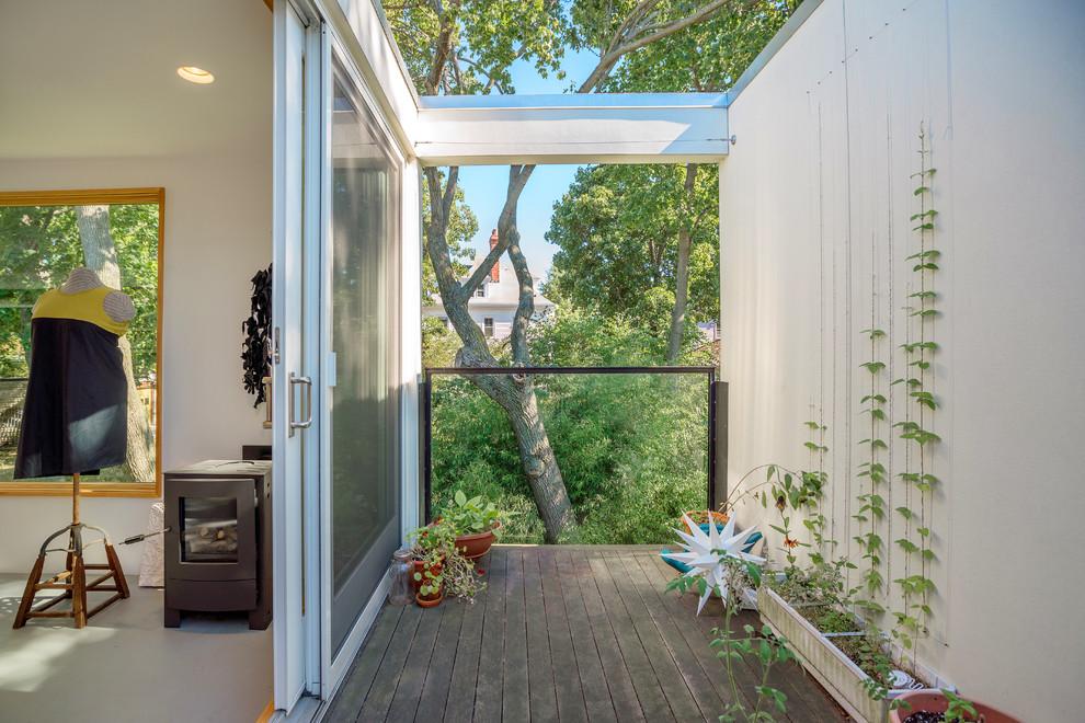 Small Contemporary Rooftop Deck Balcony Garden Dwellingdecor