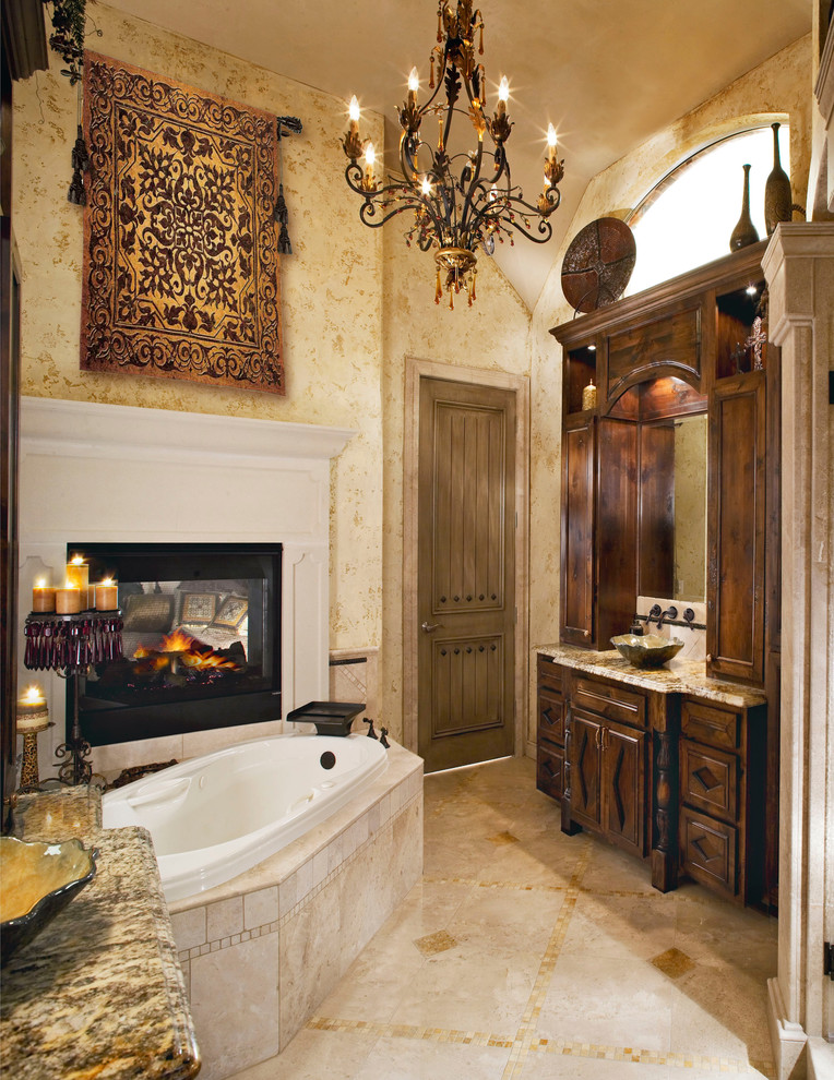 Tuscan Master Bathroom Remodeling idea Dwellingdecor