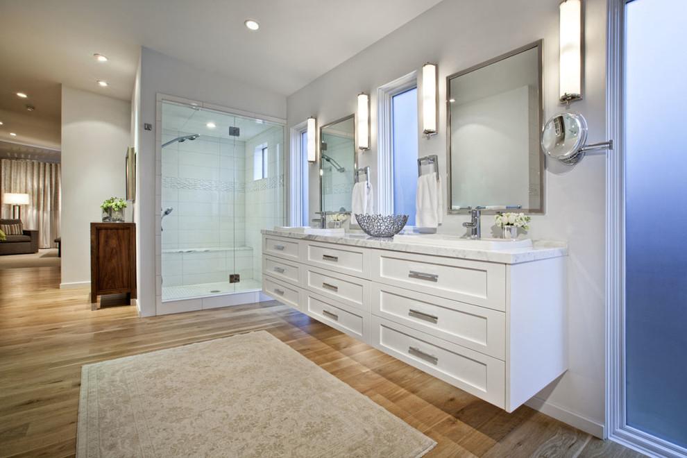 White Bathroom Recessed Lighting Dwellingdecor