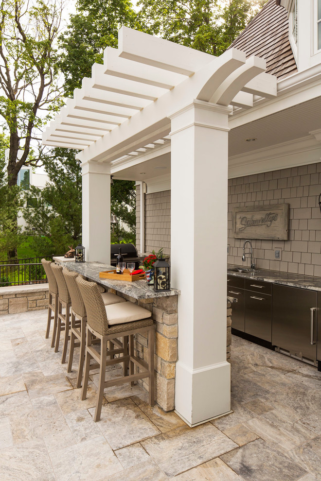 stunning stainless steel Outdoor Kitchen Dwellingdecor