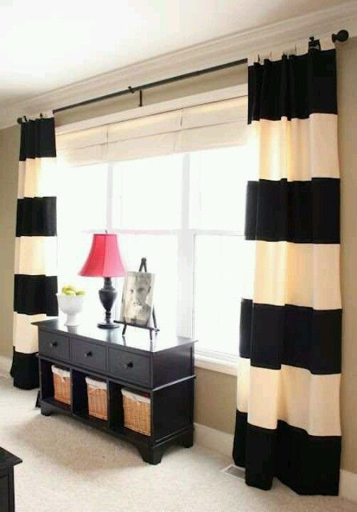 black living room curtain ideas Love these curtains Home Sweet Home Pinterest