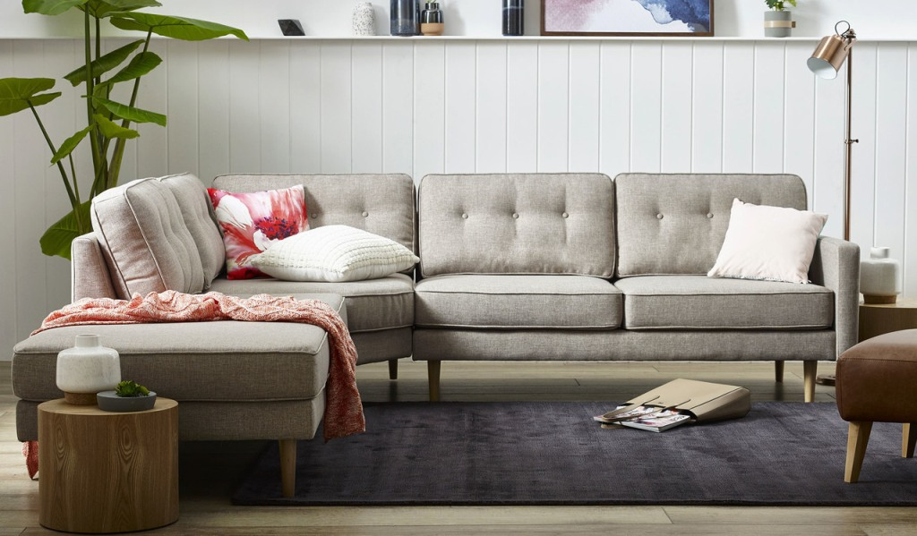 A Neutral, Buttoned Couch