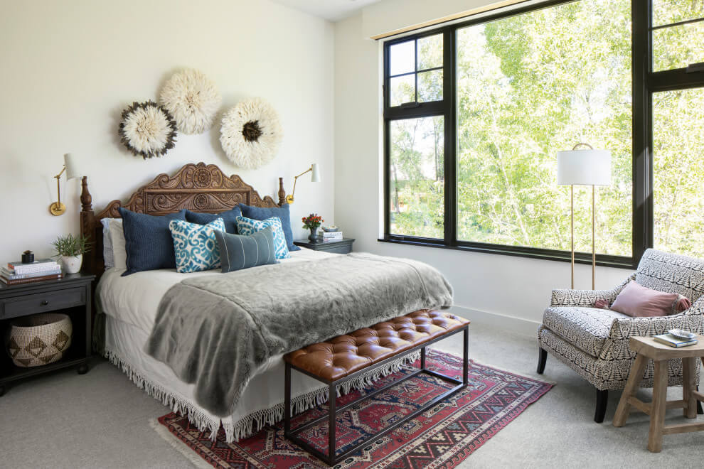 carpeted and gray floor bedroom