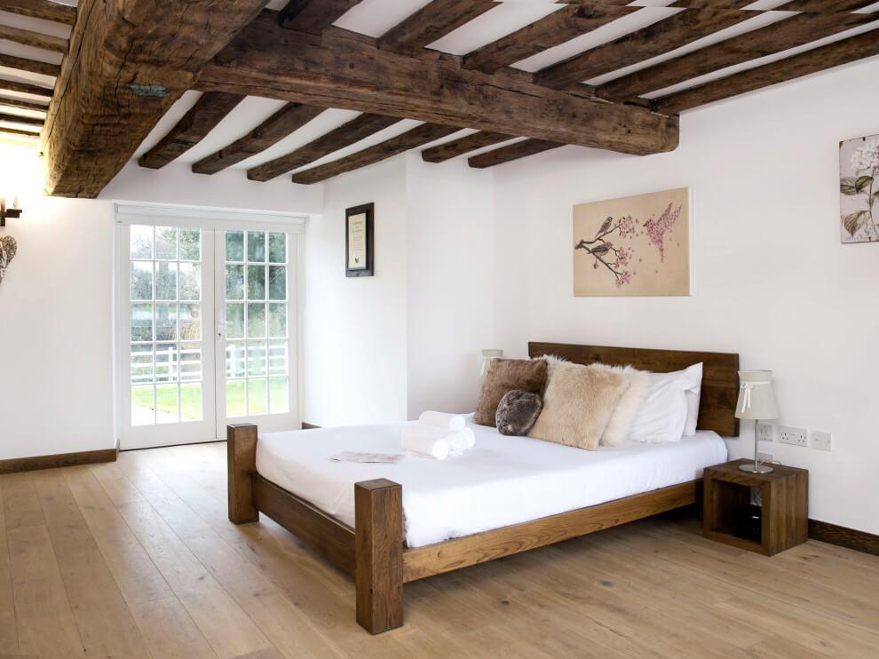 farmhouse medium tone wood floor