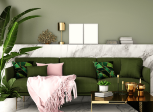 Incorporate Olive Green Shade to Your Living Room to Elevate the Aesthetic Appeal