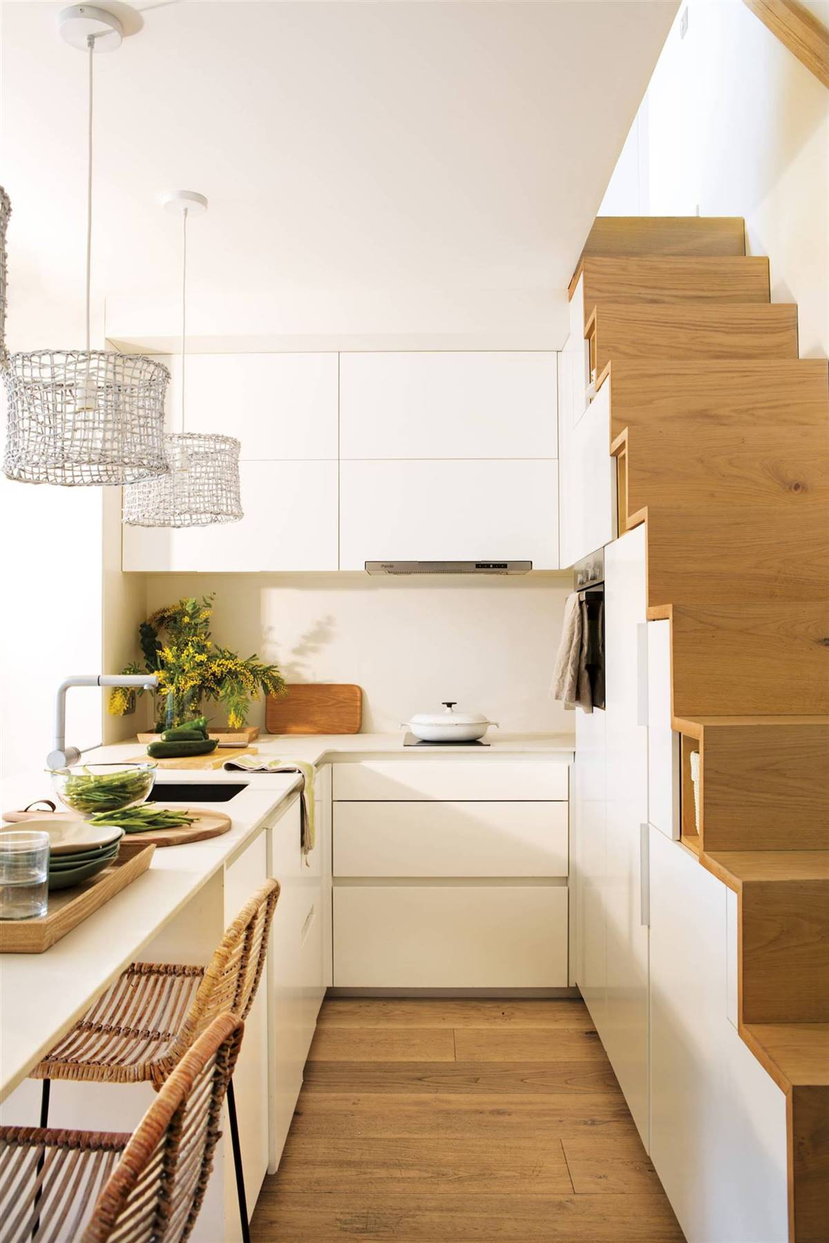 A KITCHEN UNDER THE STAIRS