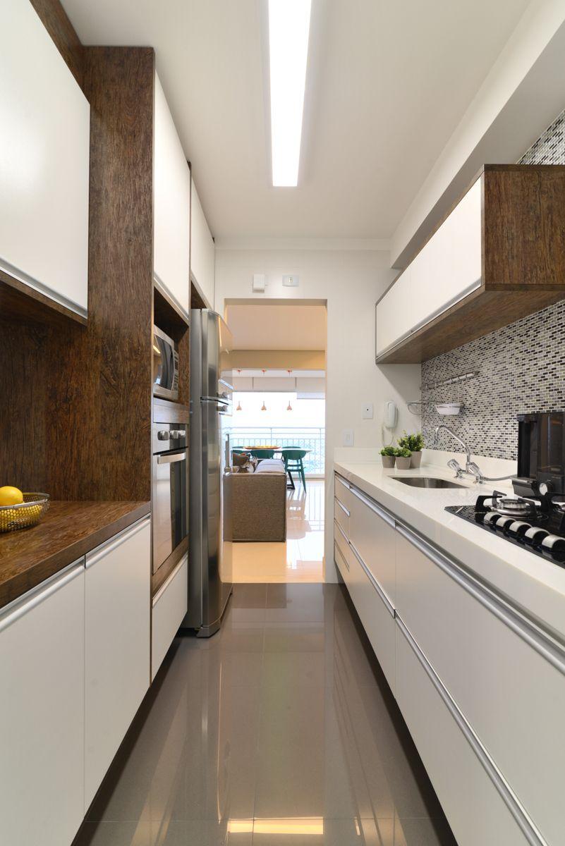 Gray-clad flooring and custom furniture