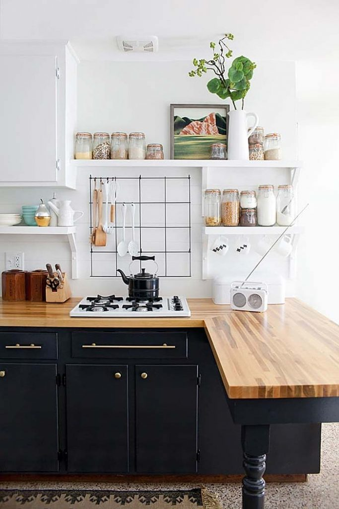01. Rustic kitchen with a touch of modernity