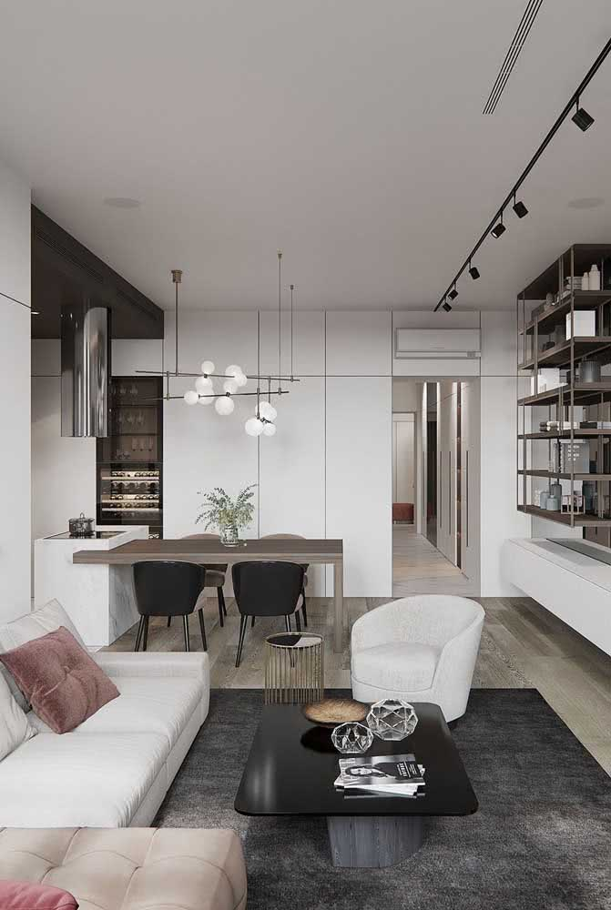 02 - Modern chandelier for dining room model Sputnik, the darling of the moment.