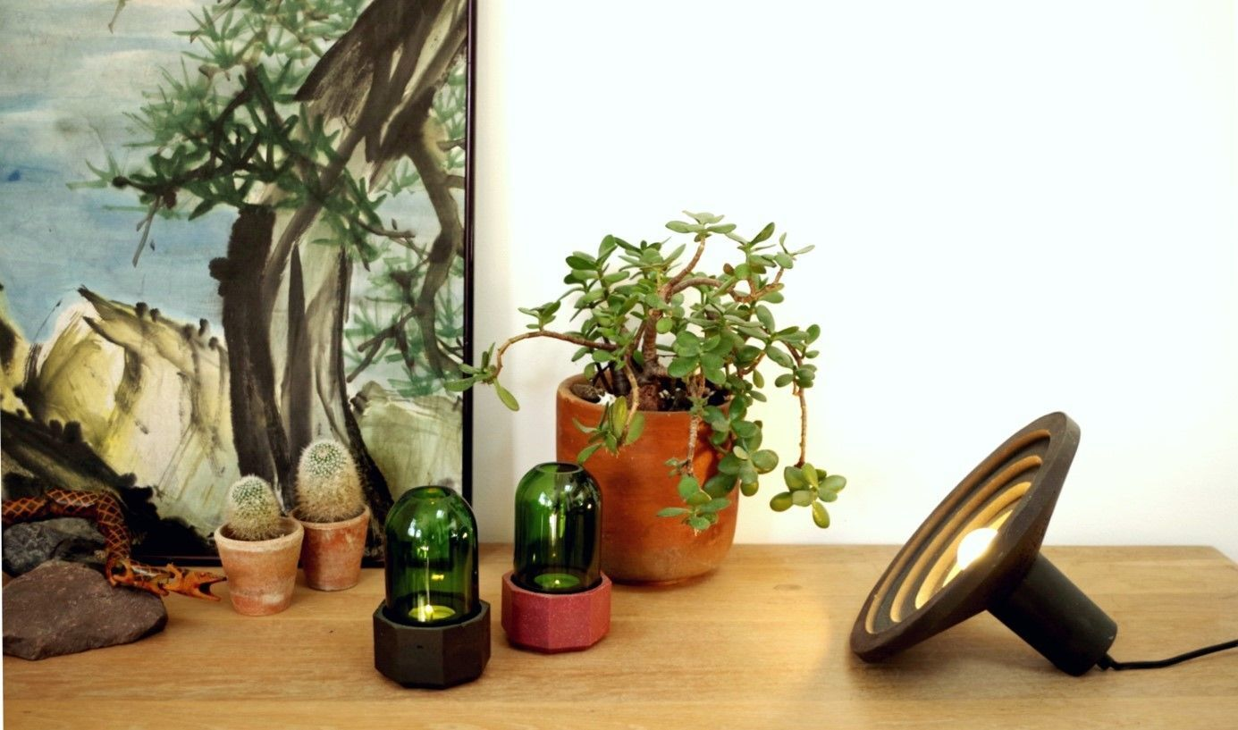 03 -Sustainable design for this table lamp made from recycled material Cuttings of Objects
