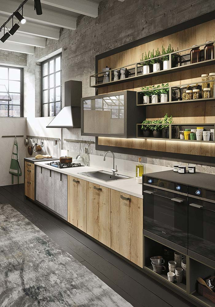 06. Rustic with black to create a youthful atmosphere