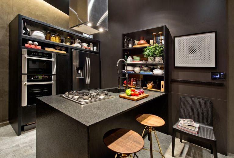 07. Kitchen design with dark tones