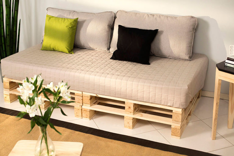 08. Buy new pallets for a modern sofa look