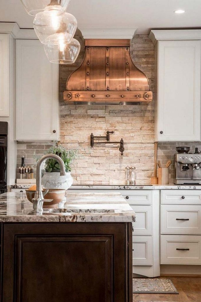 10. Copper hood gave air of nobility to this kitchen
