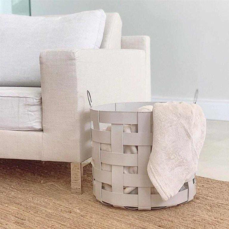 11 - Decorative organizer basket to place beside the sofa