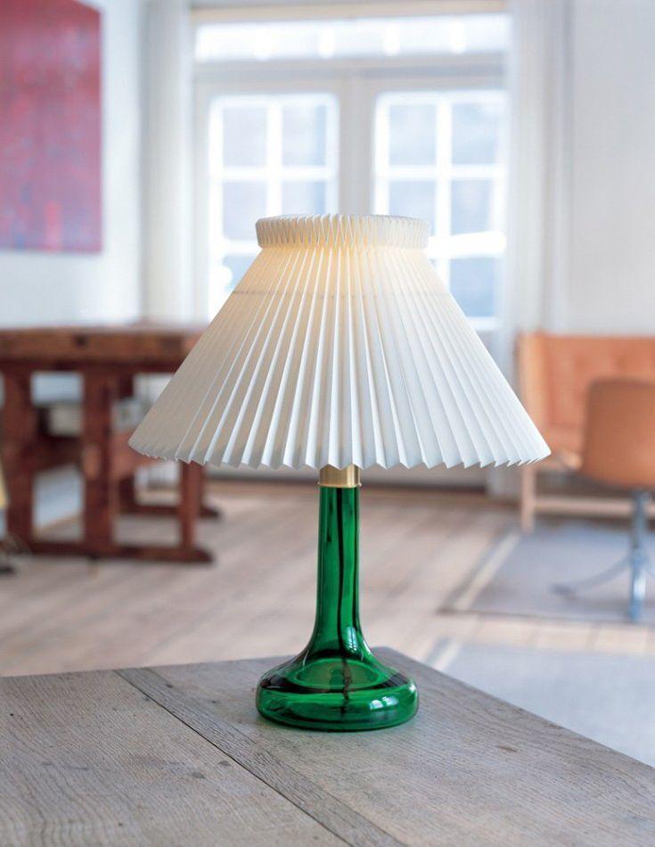 12 -In emerald green, the Biilmann Petersen lamp is vintage