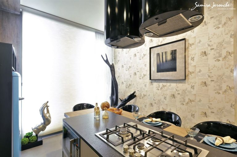 12. Kitchen with island and countertop