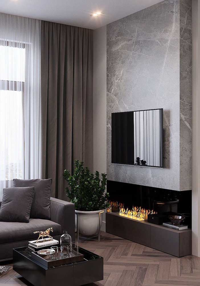 13. And what do you think of integrating the panel with the fireplace?