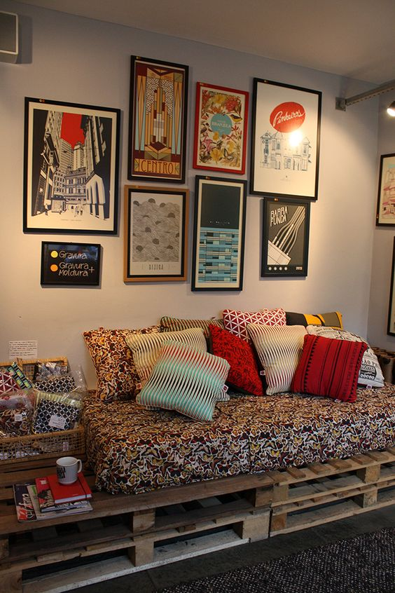 13. Place other objects next to the cushions in the remaining space