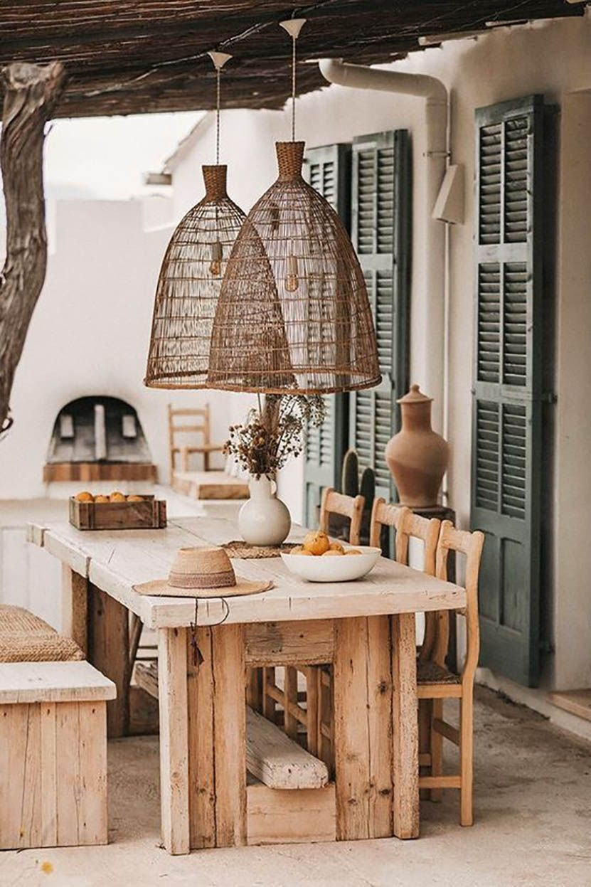 14 - Oversized suspensions for a terrace where you feel good