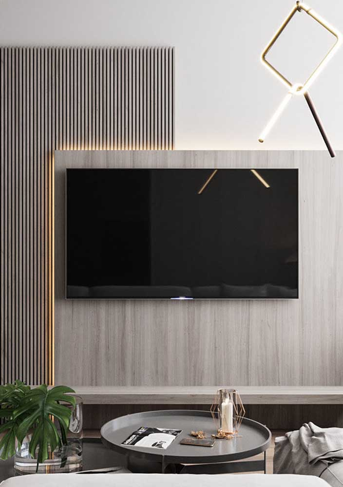 21. Recessed lighting makes all the difference in the living room panel