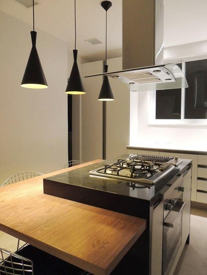 24. Kitchen with cooktop stove and island