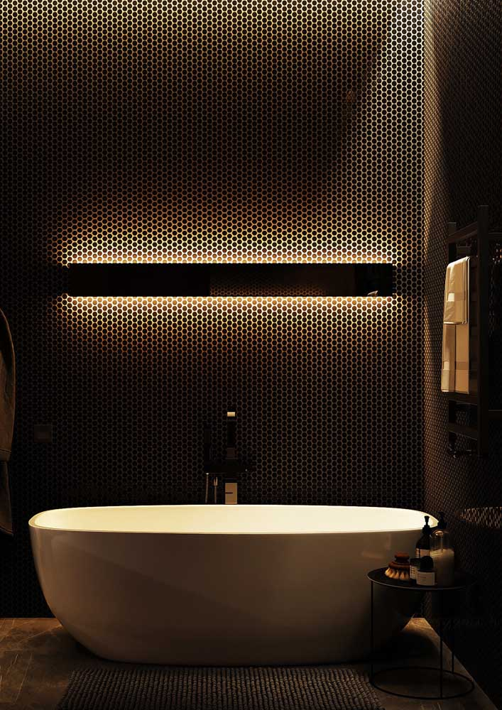25. A decorated bathroom that is pure luxury!