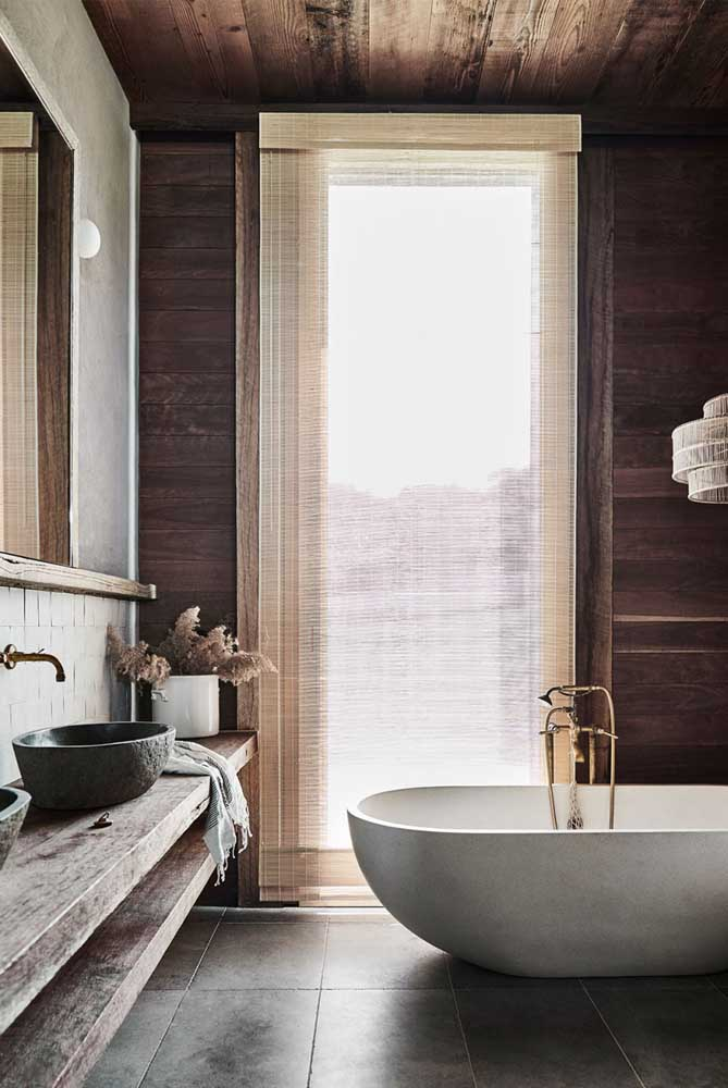 25. Rustic and elegant bathroom. The face of a SPA.