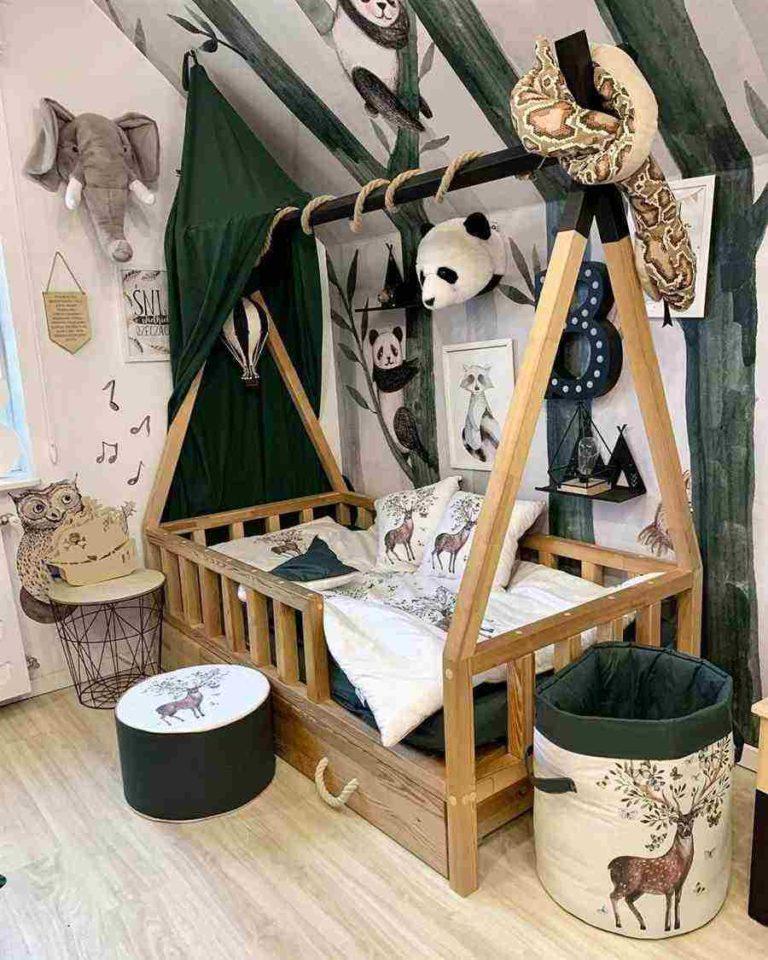 28 - Montessori style safari baby room ornaments