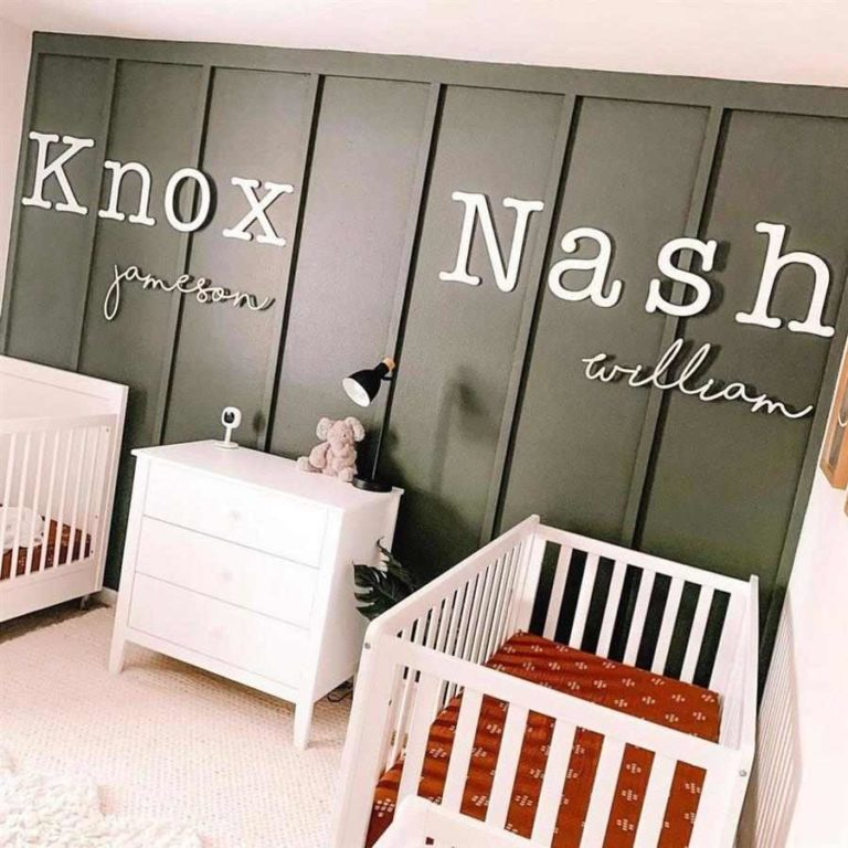 29 - Baby room decoration with name on the wall