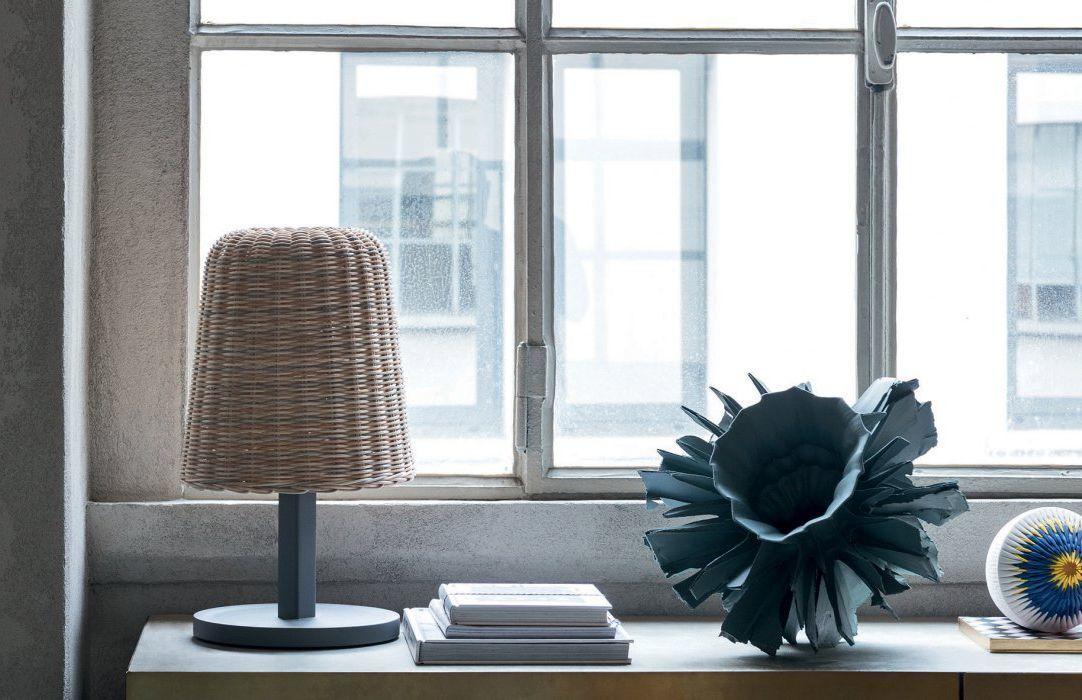 30 -Woven rattan for a natural Gervasoni lamp