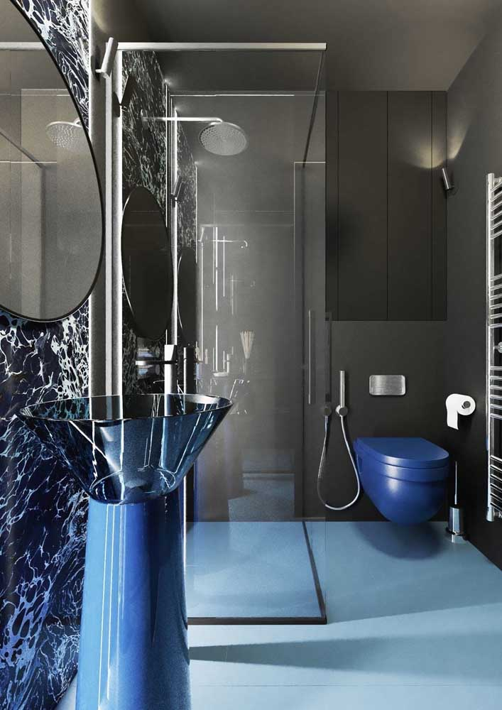 30. For those who prefer something futuristic, this decorated bathroom is an inspiration.