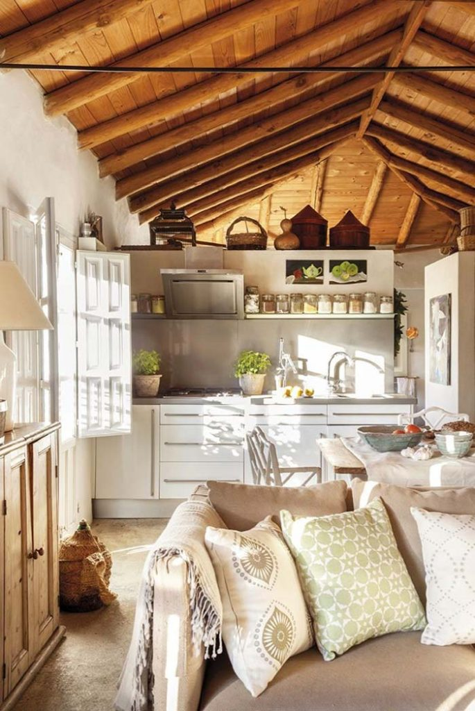 30. Wooden ceiling brings comfort and warmth